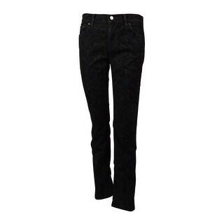 Lauren Jeans Co. by Ralph Lauren Women's Classic Straight Damask Jean - Black