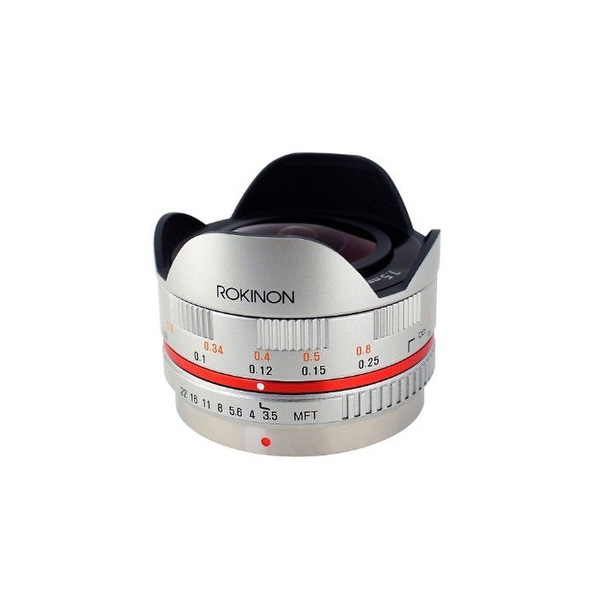Rokinon 7.5mm f/3.5 Ultra Wide-Angle Fisheye Lens for Micro 4/3 (Silver) - Silver