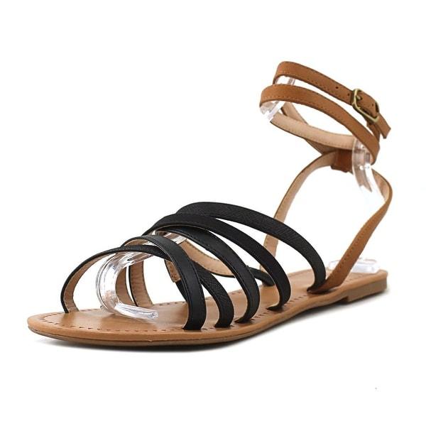 Mix No 6 Ladley Women Open Toe Leather Black Gladiator Sandal