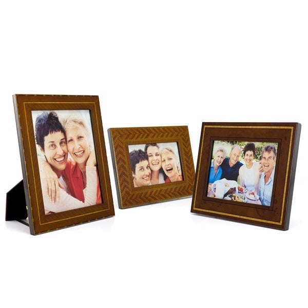Old Town 3 Piece Set of Marquetry Picture Frames
