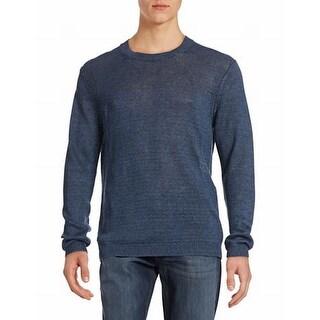 Strellson NEW Luther Navy Blue Mens Size XL Linen Crewneck Sweater