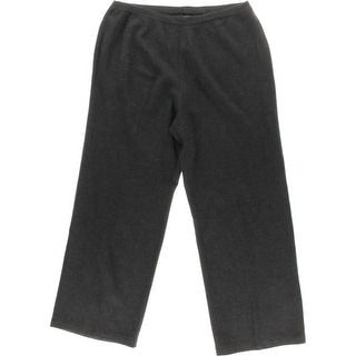 Private Label Womens Plus Merino Wool Heathered Wide Leg Pants - 1X
