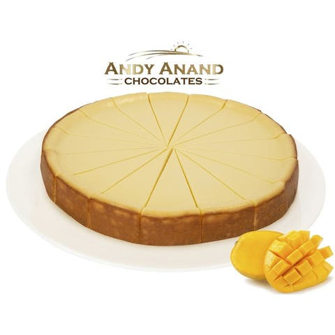 """Andy Anand Mango Cheesecake 9"""" (2 lbs) With Greeting Card"""