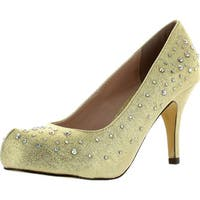 Celeste Womens Sanyo-01 Metallic Classic Dress Party Pumps Shoes