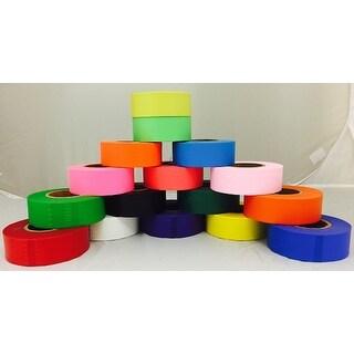 "Tape Planet Flagging Tape 1-3/16"" Non-Adhesive Plastic Ribbon (Roll)"