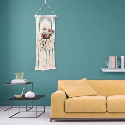 Macrame Wall Hanging Decorative Storage Wall Mount Cotton Wovening Hanging Pocket Boho Home Decor