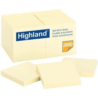 "Yellow; 100 Sheets Per Pad - Highland Notes 3""X3"" 24/Pkg"