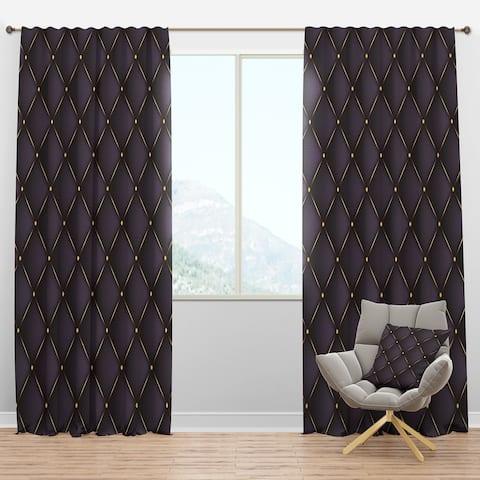 Designart 'Quilted pattern' Mid-Century Modern Blackout Curtain Panel
