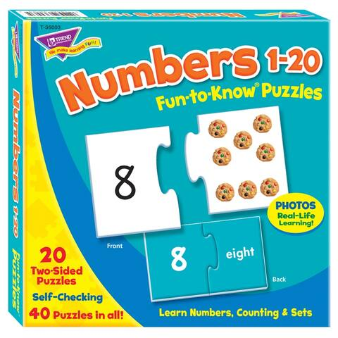 (3 Ea) Puzzle Numbers 1 20
