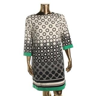 Jessica Howard Womens Plus Wear to Work Dress Knit Printed - 14W