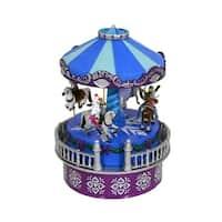 Mr. Christmas Disney Frozen Animated Musical Carousel Decoration #11850 - Purple