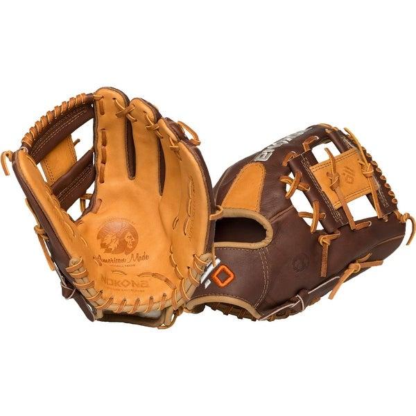 Nokona Alpha Select Left Handed Thrower 11.25-inch I Web Leather Baseball Glove S-200i/R