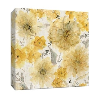 """PTM Images 9-147891  PTM Canvas Collection 12"""" x 12"""" - """"Sunshine and Linen"""" Giclee Flowers Art Print on Canvas"""