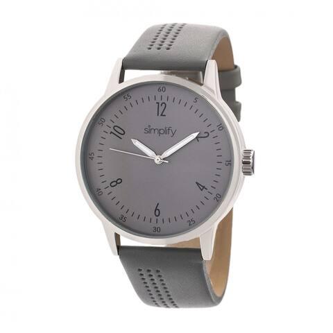 Simplify The 5700 Unisex Quartz Watch, Genuine Leather Band, Luminous Hands