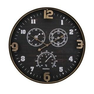 "IMAX Home 64501  27-1/2"" Diameter Clark Analog Wall Clock - Black"