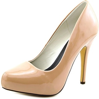 Michael Antonio Launey Women Open Toe Synthetic Nude Platform Heel