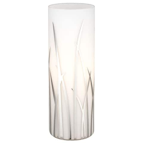 Eglo Rivato 1-light White and Chrome Table Lamp