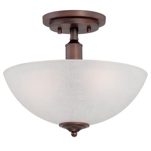 Millennium Lighting 3202 Franklin 2 Light Semi-Flush Ceiling Fixture