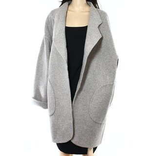 Polo Ralph Lauren NEW Chrome Gray Womens Size Large L Wool Coat