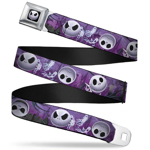 Jack Expression6 Full Color Nightmare Before Christmas Jack Expressions Seatbelt Belt