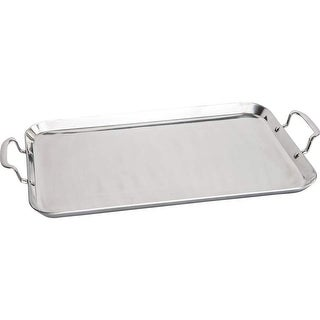 Precise Heat by Maxam® T304 5-Ply Stainless Steel Double Griddle