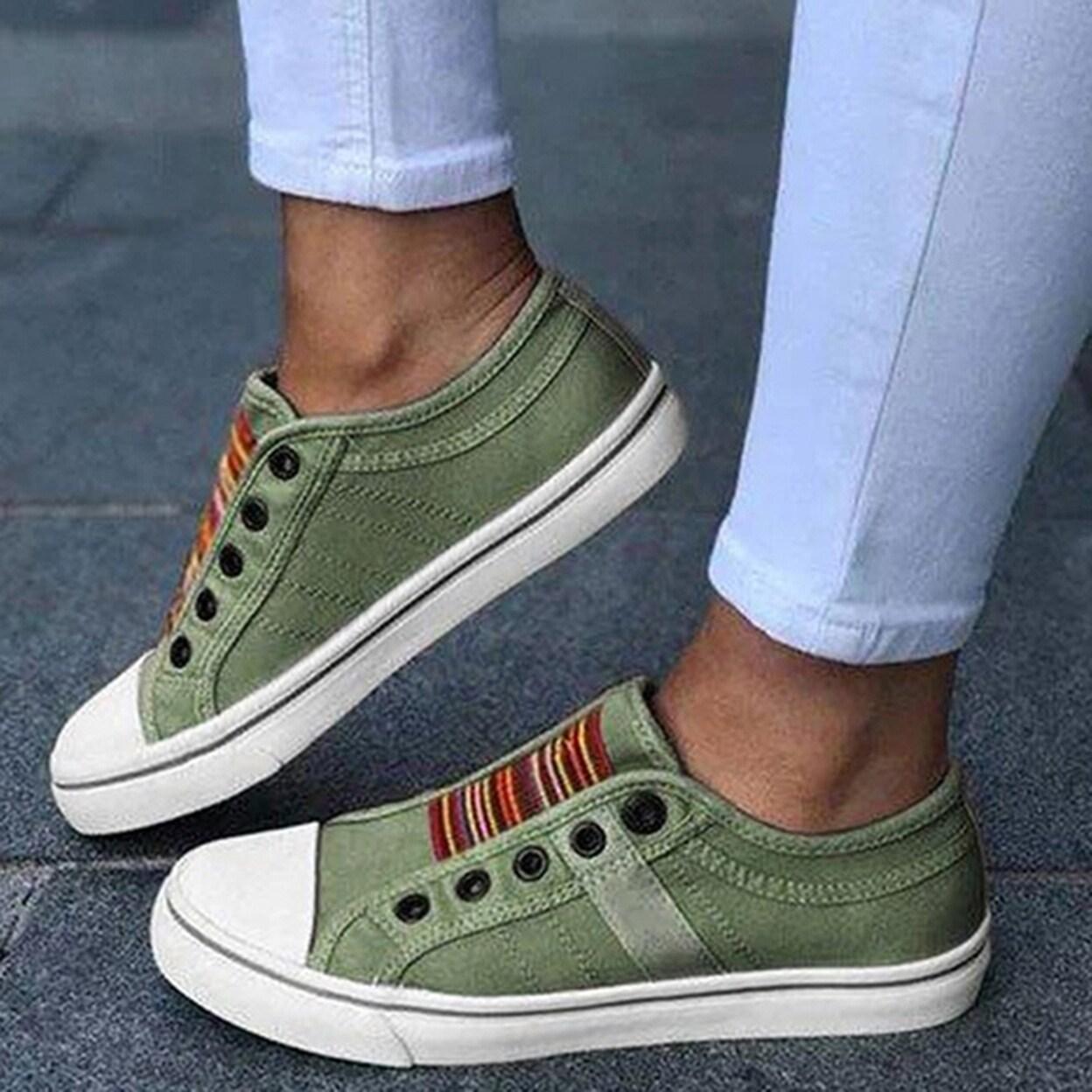Low-Cut Casual Canvas Flat Sneaker