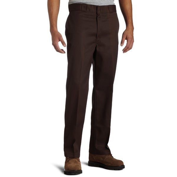 02ec28c9c1 Shop Dickies Mens 40x30 Tab-Front Original-Fit Work Pants - Free Shipping  On Orders Over $45 - Overstock - 28166038