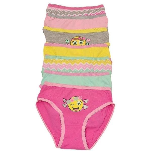 aa8274f012 Shop Sweet n Sassy Little Girls Yellow Smiley Face Emoji 7 Underwear ...