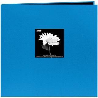 """Pioneer Book Cloth Cover Post Bound Album 8""""X8""""-Sky Blue - Sky blue"""