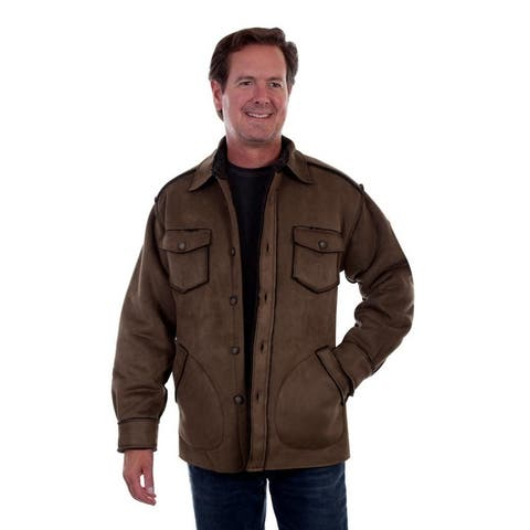Scully Western Jacket Mens Button Front Faux Sherpa Lining