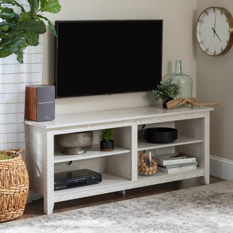 Porch & Den Dexter 58-inch White Wash TV Stand Console