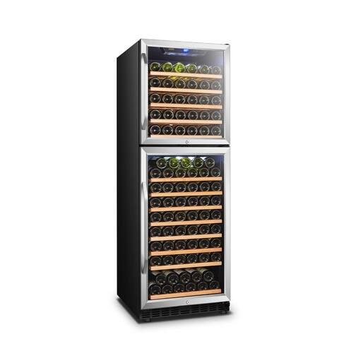 Lanbo Dual Door Dual Zone Built-in Wine Cooler, 162 Bottle