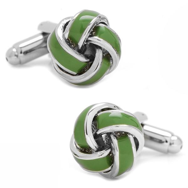 Green Knot Cufflinks