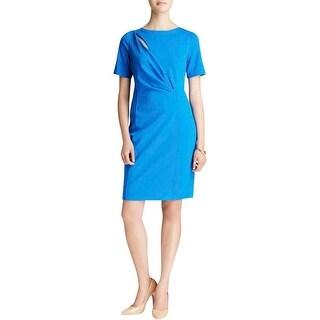 T Tahari Womens Madison Wear to Work Dress Short Sleeves Knee-Length
