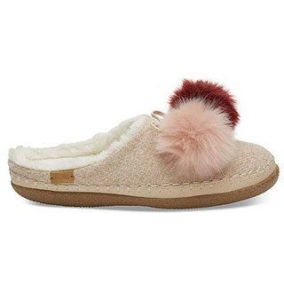 Toms Womens Ivy Slipper, Adult, Rose Cloud Felt Pom Pom