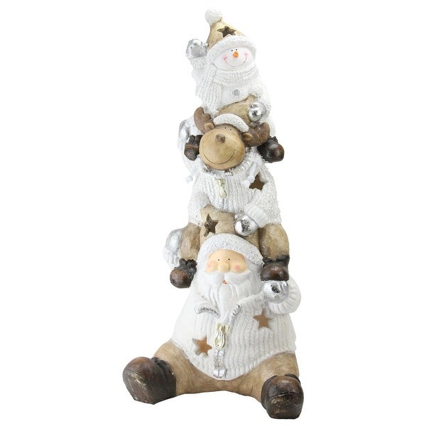 "26"" LED Lighted Santa, Reindeer and Snowman Christmas Decoration"