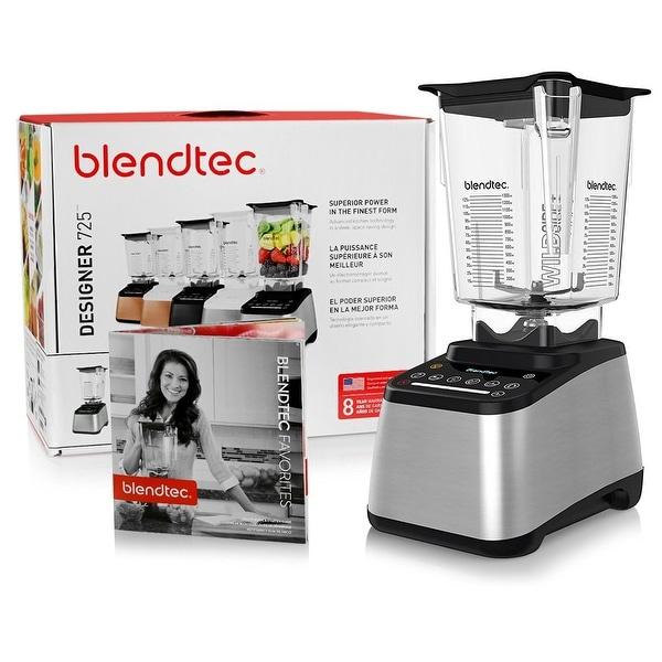 Blendtec Designer 725 Blender with BPA-Free WildSide Jar with Vented Gripper Lid + Blendtec Recipe Book + Starter Guide