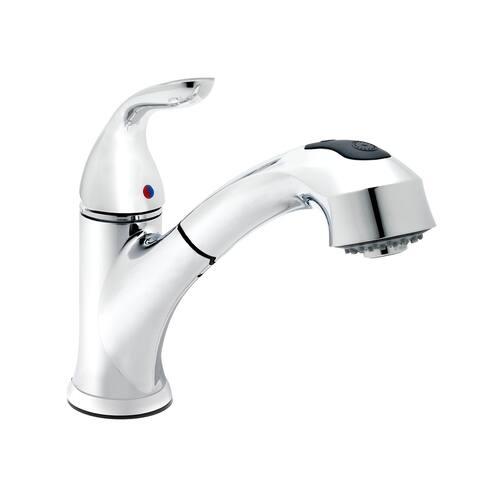 Belanger GEM77CCP Single Handle Pull-Out Kitchen Faucet, Polished Chrome