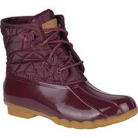 Sperry Top-Sider Women's Saltwater Duck Boot Wine Quilted Nylon