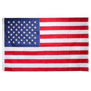 AGPtek 90x150 CM (appr 3x5 ft) Nylon American Flag USA Flag- Embroidered Stars