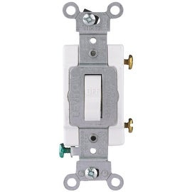 Leviton Wht 1-Pole Grnd Switch