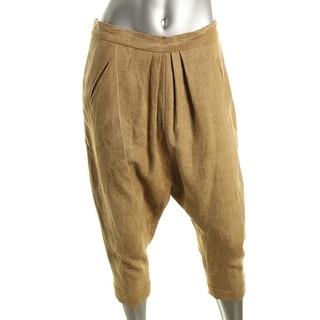 Catherine Malandrino Womens Linen Cuffed Harem Pants - 40