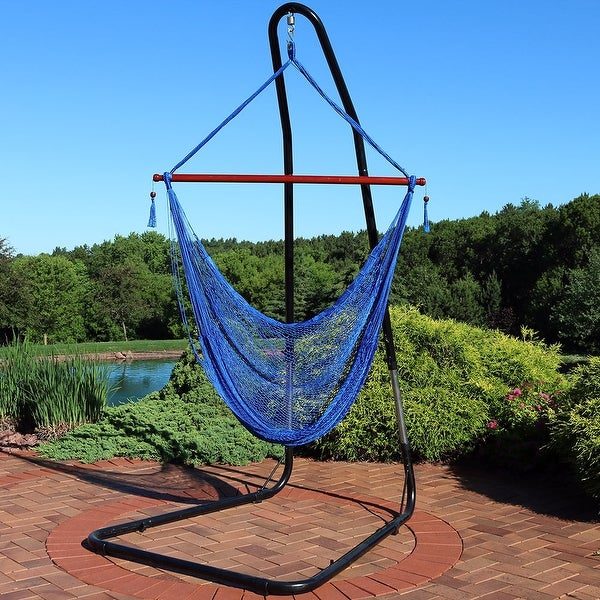 Shop Sunnydaze Cabo Extra Large Hanging Rope Hammock Chair