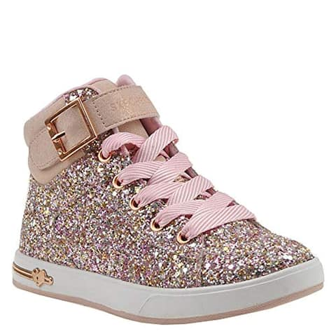 Skechers Shoutouts 84361L Girls' Toddler-Youth Oxford 2 M Us Little Kid Rose Gold