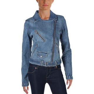 Tommy Hilfiger Womens Denim Jacket Denim Adjustable