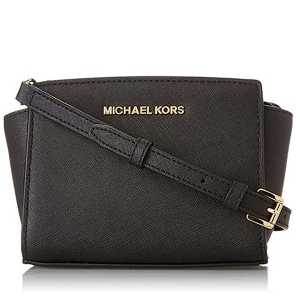 80820f1cbc40 Shop Michael Michael Kors Selma Mini Messenger Saffiano Leather 18K ...