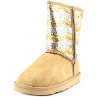 Lamo Stripy Women Round Toe Suede Brown Winter Boot