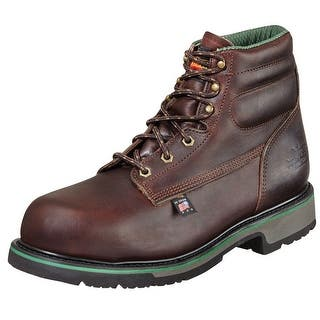 "Thorogood Work Boots Mens 6"" Sport SD Type ST Black Walnut 804-4711