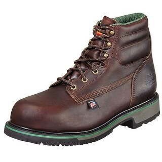 "Thorogood Work Boots Mens 6"" Sport SD Type ST Black Walnut 804-4711"