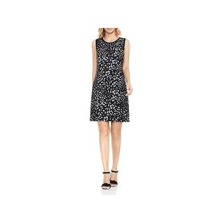 Vince Camuto Womens Animal Whispers Wear to Work Dress Printed A-Line